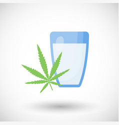 hemp milk flat icon vector image