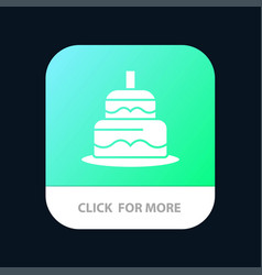 Indian cake day country mobile app button android vector