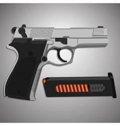 Iron gun with clip vector image