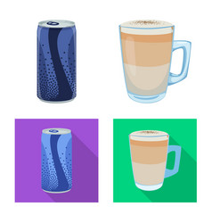Isolated object drink and bar icon collection vector