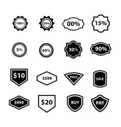 Label design 16 item vector