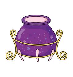 magic witch cauldron icon vector image