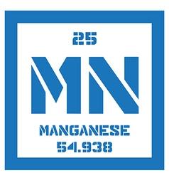 Manganese chemical element vector