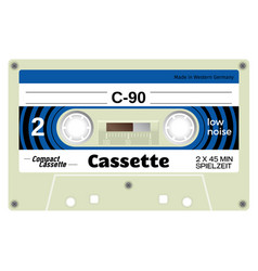 old school compact cassette vector image