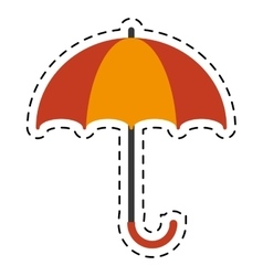 Orange and yellow umbrella accessory cutting line vector