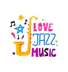 original emblem for jazz festival abstract logo vector image
