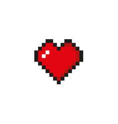 Pixel heart vector
