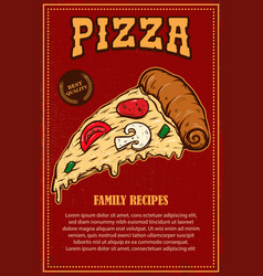 Poster template pizza house italian pizza vector