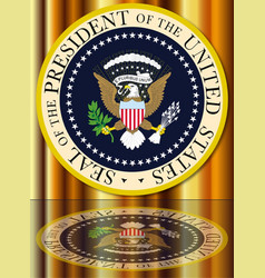 presidential seal reflection vector image
