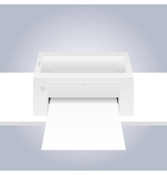 printer with paper vector image