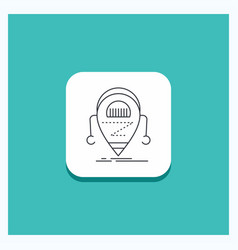 round button for android beta droid robot vector image