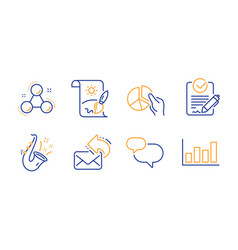 Share mail chat message and rfp icons set vector