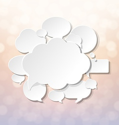 Speech Bubbles With Blur And Bokeh vector image
