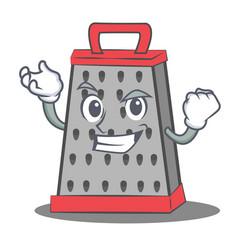 Successful kitchen grater character cartoon vector