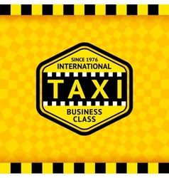 Taxi symbol with checkered background - 22 vector image vector image