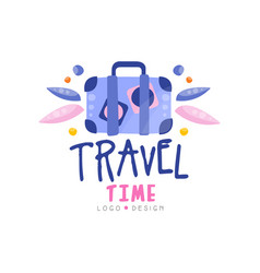 travel time logo design summer vacation weekend vector image