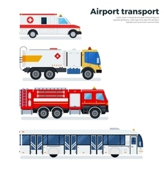 Types of airport transport isolated on white vector image