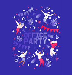 vertical template for office party celebration or vector image