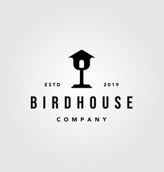 vintage bird house home mortgage architecture vector image