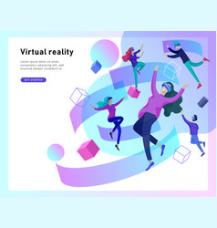 Virtual augmented reality glasses concept with vector