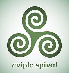 Celtic triple spiral vector image