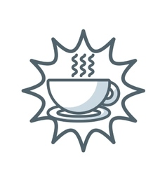 coffee cup flat icon vector image