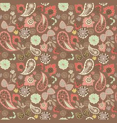 cute graphical oriental paisley pattern with vector image vector image
