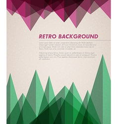 grunge retro background template vector image vector image