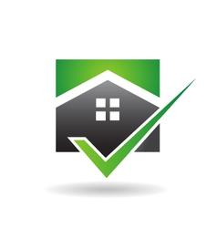 House Check Logo vector image vector image