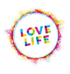 love life creative rough inspiration vector image