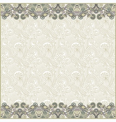 ornate floral background with two ornament stripes vector image