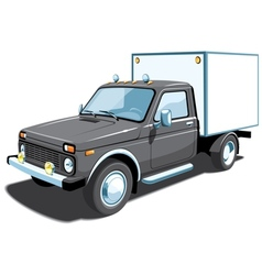 small delivery truck vector image vector image