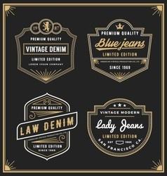 Vintage denim jeans frame logo for your business vector image vector image