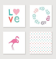 Cards collection for valentines day birthday save vector image
