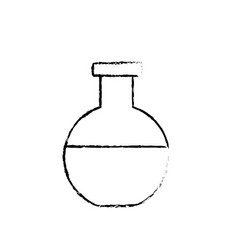 figure erlenmeyer flask to lab chemical design vector image vector image