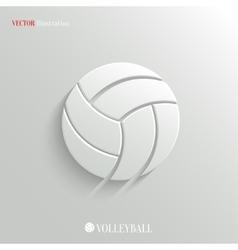 Volleyball icon - white app button vector