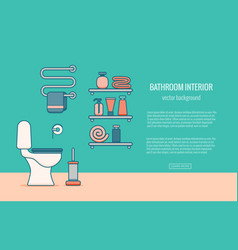 bath equipment colorful concept vector image vector image