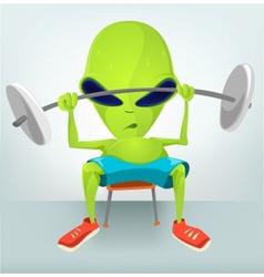 Cartoon Character gym vector image vector image