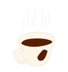 Coffee cup icon cartoon style vector image