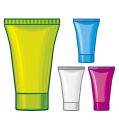 Cosmetic tube - Cosmetics containers vector image vector image