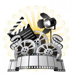 film premiere vector image