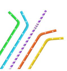 set straw for beverage vector image