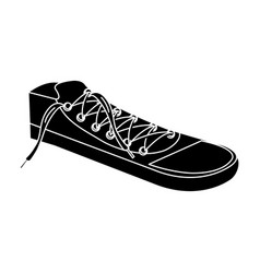 Shoes young style icon vector