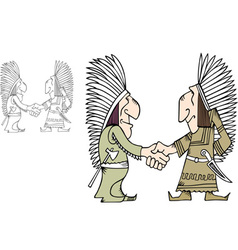 American indians vector image vector image
