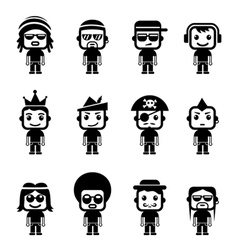 Avatar Character Set vector image
