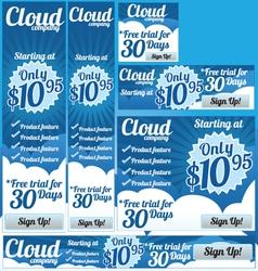 Business Cloud 6 Banner Set vector image vector image