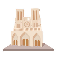 french castle icon cartoon style vector image