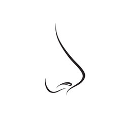 nose isolated human nose icon vector image