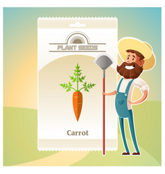 Pack of carrot seeds icon vector