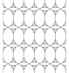 Seamless Geometric Pattern Black And White vector image